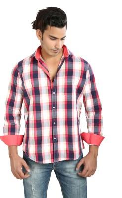 Faceman Men's Checkered Casual, Festive, Lounge Wear, Party Multicolor Shirt