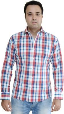 Kings Republic Men's Checkered Casual Red, Blue Shirt