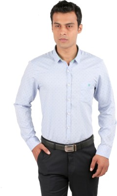 Jhampstead Men,s Solid Casual Blue Shirt