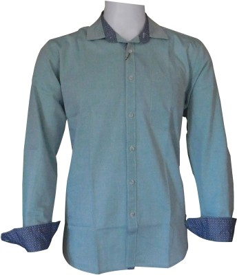 Ardeur Men's Solid Casual Light Green Shirt