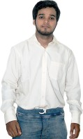 Zhentz Formal Shirts (Men's) - ZHENTZ Men's Solid Formal Orange Shirt