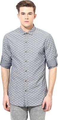 Velloche Men's Geometric Print Casual, Festive Multicolor Shirt