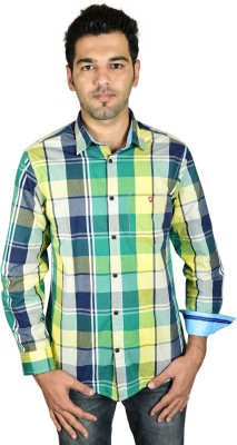 Leaf Star Men's Checkered Casual Multicolor Shirt