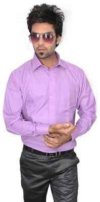 Culture Plus Men's Solid Formal Pink Shirt