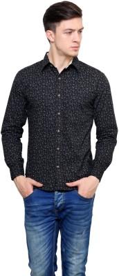 Shreebalajitraders Men,s Printed Casual Black Shirt