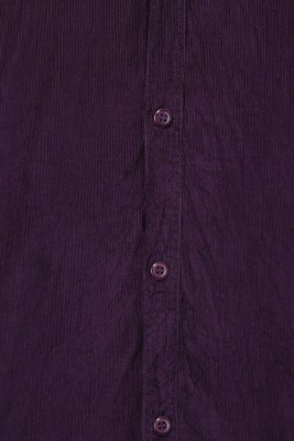 Custom Paid Men's Solid Casual Purple Shirt