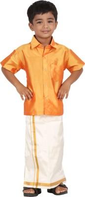 APR Brand Boy's Solid Wedding Gold Shirt