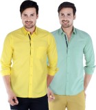 S9 Men's Solid Casual Yellow, Green, Mul...
