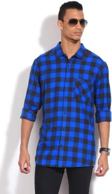 Quiksilver Men's Checkered Casual Blue Shirt