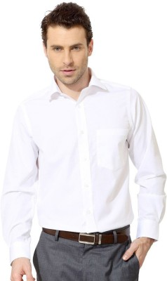 Swagger Men's Solid Casual White Shirt