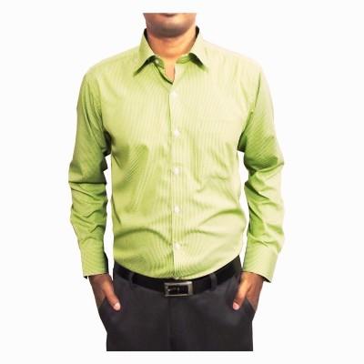 Shine Shirts Men's Checkered Formal Light Green Shirt