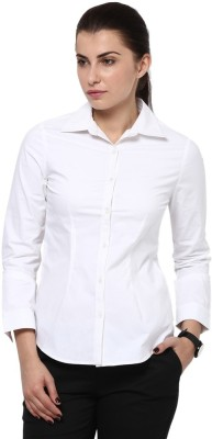 Protext Premium Women's Solid Casual, Formal, Festive, Party White Shirt