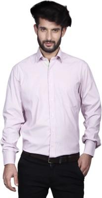 Yorkshire Men's Striped Formal Pink Shirt