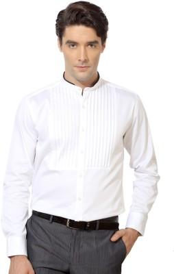 Van Heusen Men's Solid Casual White Shirt