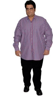 Xmex Men's Striped Formal Reversible Maroon Shirt
