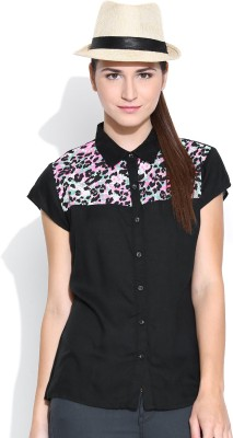 Colors Couture Women's Solid Casual Black Shirt
