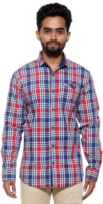 FIFTY TWO Men's Checkered Casual Red Shirt
