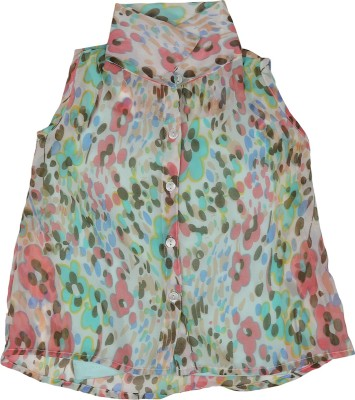 Addyvero Girl's Floral Print Casual Multicolor Shirt