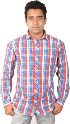 Flying Threadz Men's Checkered Casual Red Shirt
