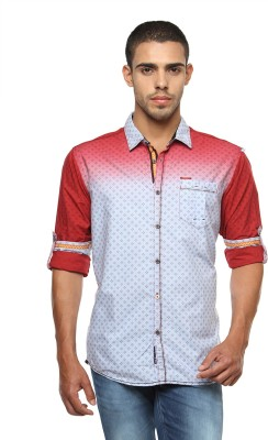 The Indian Garage Co. Men's Printed Casual Red Shirt