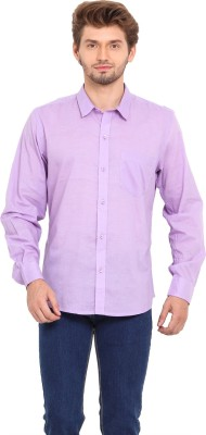Ekmatra Men's Solid Casual Purple Shirt
