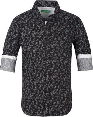 Palm Tree Boy's Printed Casual Grey Shirt