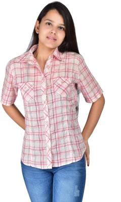 Palette Women's Checkered Casual Pink Shirt
