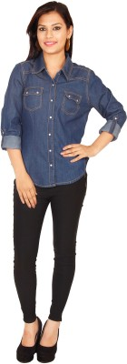 Kasturi Women's Solid Casual Denim Shirt