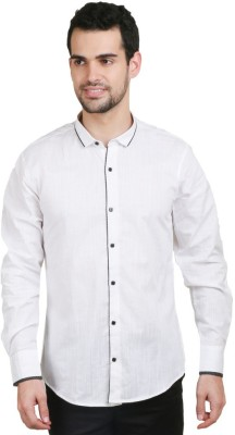 Big Tree Men's Solid Party White Shirt