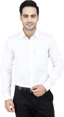 Cotton Clubs Men,s Solid Formal White Shirt