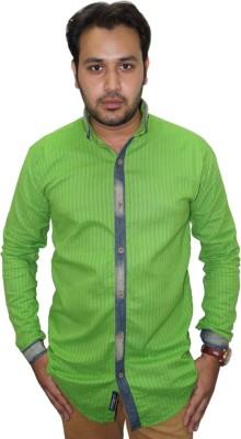 Ali Darzi Men's Solid Casual Green Shirt