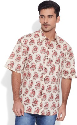 Very Me Men's Graphic Print Casual Red Shirt