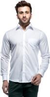 Tinted Formal Shirts (Men's) - Tinted Men's Solid Formal White Shirt