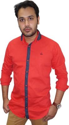 Ali Darzi Men's Solid Casual Red Shirt