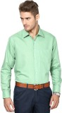 Protext Men's Solid Formal Green Shirt