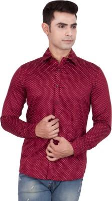 FDS Men,s Animal Print Casual Reversible Red Shirt