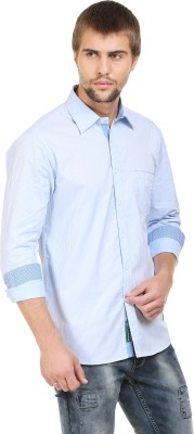 BlackRooster Men's Striped Casual White Shirt
