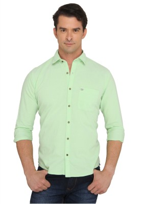 Donear NXG Men's Solid Casual Green Shirt