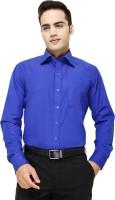 Blue Ocean Formal Shirts (Men's) - Blue Ocean Men's Solid Formal Blue Shirt