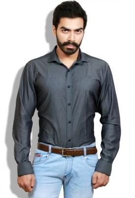 Goswhit Men's Solid Casual Black, Grey Shirt