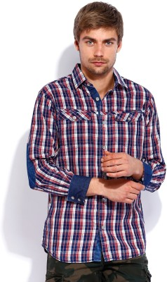 Rookies Men's Checkered Casual Multicolor Shirt