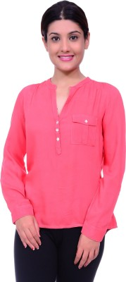 Lamora Women's Solid Casual Red Shirt