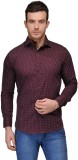 Tailor Craft Men's Printed Casual Maroon...