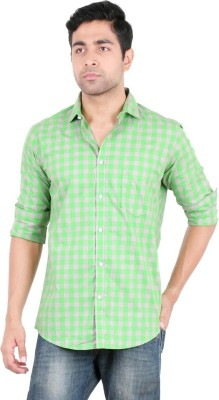 Easies Men's Checkered Casual Green Shirt