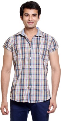 Fashion My Day Men's Checkered Casual Multicolor Shirt