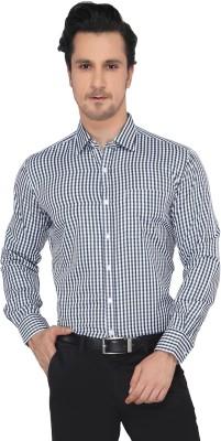 Devaa Men's Checkered Casual Black, White Shirt
