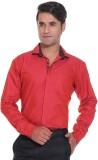 Rebel Men's Solid Casual Red Shirt