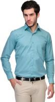 Qpark Formal Shirts (Men's) - Qpark Men's Solid Formal Light Green Shirt
