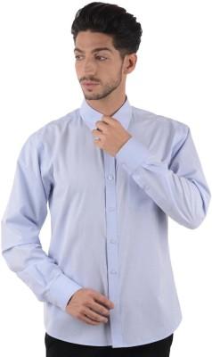 Cotton Clubs Men's Solid Formal Blue, Dark Blue Shirt