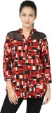 Adhaans Women's Printed Casual Red, Blac...